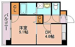 YGM博多[8階]の間取り