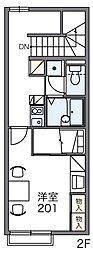 レオパレスシュマン[2階]の間取り