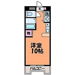 愛媛県松山市室町2丁目の賃貸マンションの間取り