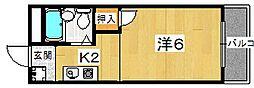 ハイツドメイン[1階]の間取り