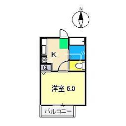 すばる針木Ⅱ[1階]の間取り