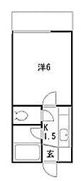 東京都江戸川区篠崎町6丁目の賃貸アパートの間取り