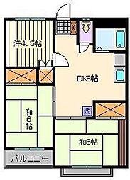 小宮マンション パートII[1階]の間取り