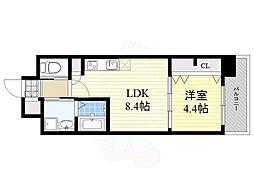 グランフォーレラグゼ箱崎 5階1LDKの間取り