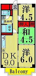 いずみハイツ竹の塚[308号室]の間取り