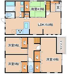 [一戸建] 兵庫県神戸市西区枝吉3丁目 の賃貸【/】の間取り