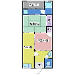 第1栄荘[2階]の間取り