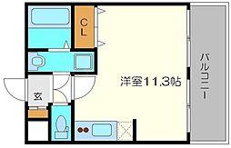 クレグラン北梅田[5階]の間取り