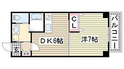 兵庫県神戸市灘区森後町3丁目の賃貸マンションの間取り