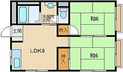 藤森マンション[2階]の間取り