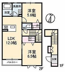 仮)ガーデンズK A棟[205号室]の間取り