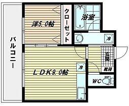 ベラヴィスタ美野島[3階]の間取り
