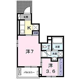 日野アパート[0106号室]の間取り