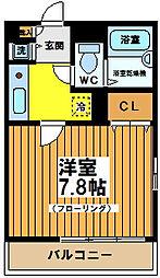 東京都杉並区浜田山1丁目の賃貸マンションの間取り