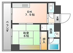 博多ササキビル[101号室]の間取り