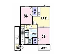 イーストコートB[2階]の間取り