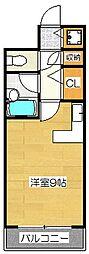 ステイタスマンション二日市[401号室]の間取り