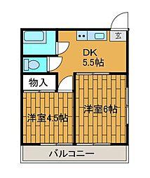 吉垣ビル[4階]の間取り