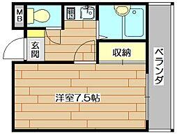 ホワイトアベニュー[3階]の間取り