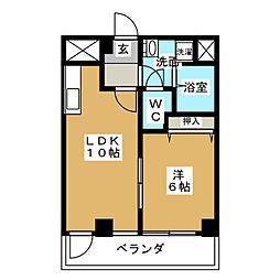 パークビュー栄(PARK VIEW 栄)[5階]の間取り