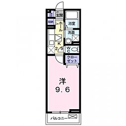 フルール宇賀徳[1階]の間取り