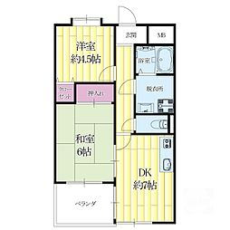 メゾン摂津[2階]の間取り