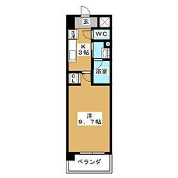 エトアル・K[3階]の間取り