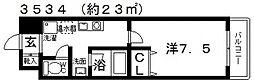 チェロマレ天美東[506号室号室]の間取り