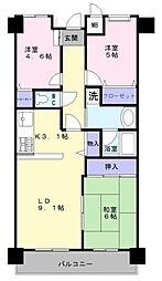 ファミールハイツ鳳サウスフォレスト3番館[15階]の間取り