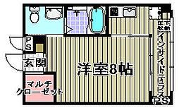 サニープレイス[1-D号室]の間取り