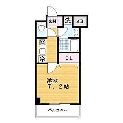 スペサイドK[6階]の間取り