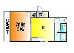 岡山県岡山市中区清水の賃貸マンションの間取り