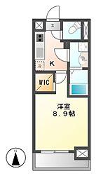 メイプルコート朝岡[2階]の間取り