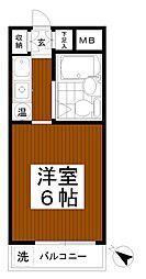 ベルエポック松木[1階]の間取り