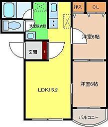 ローレックス5[1階]の間取り