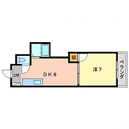 マンション・セヌリ[1階]の間取り