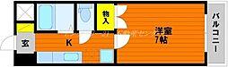 JR山陽本線 岡山駅 バス20分 バス平津橋下車 徒歩4分の賃貸マンション 4階1Kの間取り