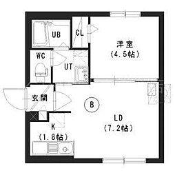 北海道札幌市豊平区平岸三条9丁目の賃貸マンションの間取り