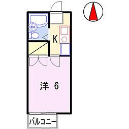 ナイスワン青山Ⅱ[105号室]の間取り