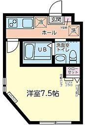 小田急小田原線 相模大野駅 バス15分 友愛病院前下車 徒歩8分の賃貸アパート 1階1Kの間取り