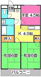 クレスト新秋津[1階]の間取り