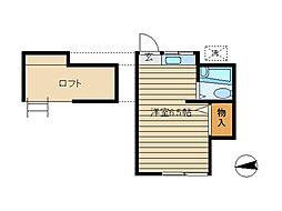 東京都世田谷区世田谷2丁目の賃貸アパートの間取り