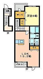 パストラルメゾンB[2階]の間取り