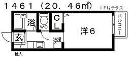 カンパニュラ[203号室号室]の間取り