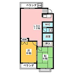 早美マンション[3階]の間取り