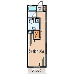 アパートメントヨシダ[101号室]の間取り