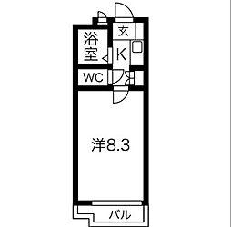 愛知県名古屋市昭和区陶生町1丁目の賃貸マンションの間取り