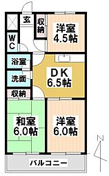 愛知県名古屋市天白区野並2の賃貸マンションの間取り