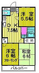 コヤマコーポ[203号室号室]の間取り