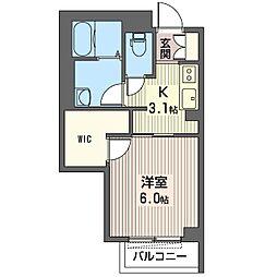 仮)中央区弁天シャーメゾン[2階]の間取り